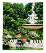 Boboli Gardens Fountain Florence Italy Fleece Blanket
