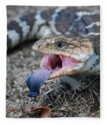Bobtail Lizard Fleece Blanket