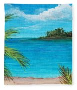 Boca Chica Beach Fleece Blanket
