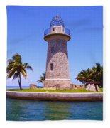 Boca Chita Lighthouse Fleece Blanket