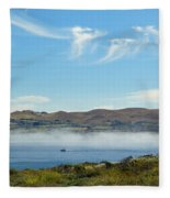 Bodega Harbor II Fleece Blanket