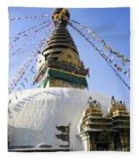Bodhnath Stupa Fleece Blanket