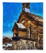 Bodie Ghost Town Methodist Church Fleece Blanket