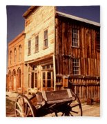 Bodie Ghost Town Wagon Fleece Blanket