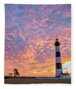Bodie Island Lighthouse At Sunrise Vetical Fleece Blanket