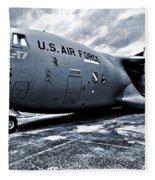 Boeing C-17 Airplane Fleece Blanket