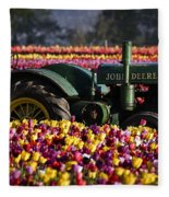 Bogged Down By Color Fleece Blanket