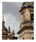 Bogota Cathedral Towers Fleece Blanket