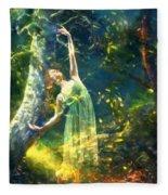 Bohemian Dancer Fantasy Fleece Blanket