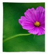Bohemian Garden Magenta Fleece Blanket