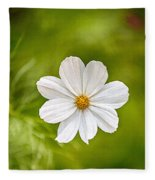 Bohemian Garden White Fleece Blanket