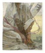 Bohemian Sun Dreamer Fleece Blanket