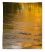 Boise River Autumn Abstract Fleece Blanket