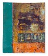 Book Cover Encaustic Fleece Blanket