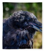 Bold And Demanding Raven Fleece Blanket