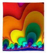 Bold Colors Fractal Fleece Blanket