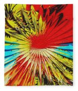 Bold Floral Hat Abstract Fleece Blanket
