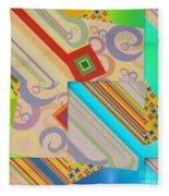 Bold Geometric Abstract  Fleece Blanket