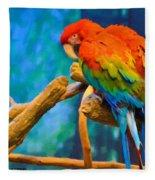 Bold Parrot Fleece Blanket