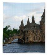 Boldt Castle Powerhouse Fleece Blanket