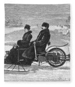 Bollee Carriage, 1898 Fleece Blanket