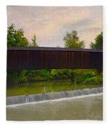 Bollinger Cover Bridge Fleece Blanket