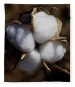 Bolls Of Cotton Fleece Blanket