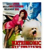 Bolognese Dog Art - Matrimonio All Italiana Movie Poster Fleece Blanket