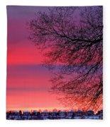 Bolton Sunset Fleece Blanket