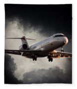 Bombardier Landing Fleece Blanket