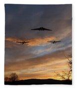 Bombers Pass By  Fleece Blanket