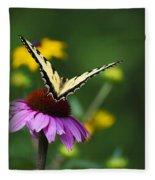 Bon Voyage Butterfly Fleece Blanket