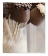 Bonbons Au Chocolat Fleece Blanket