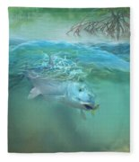 Bone Fish Fleece Blanket