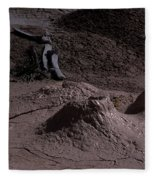 Bones At Mud Pot Area I I Fleece Blanket