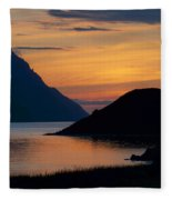 Bonne Bay Sunset Fleece Blanket