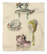 Bonnets For An Occasion, Fashion Plate Fleece Blanket