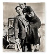 Bonnie And Clyde - Texas Fleece Blanket