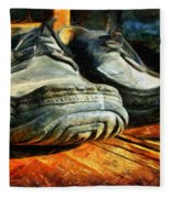 Boogie Shoes - Walking Story - Drawing Fleece Blanket