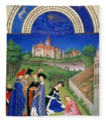 Book Of Hours: April Fleece Blanket
