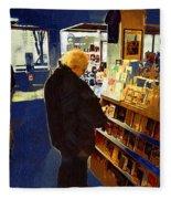 Bookstore Dreamer Fleece Blanket