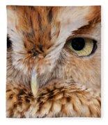 Boreal Owl Eyes  Fleece Blanket