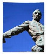 Borglum's General Philip Sheridan -- A Partial View Fleece Blanket