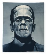 Boris Karloff As Frankenstein  Fleece Blanket