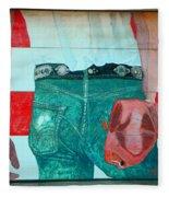Born In The Usa Urban Garage Door Mural Fleece Blanket