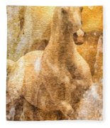 Born To Be Free Fleece Blanket