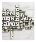 Borne On Wings Of Steel Fleece Blanket