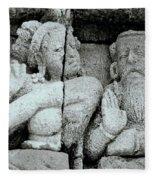 Borobudur Apsara Dancer Fleece Blanket