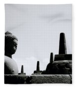 The Contemplation Of The Buddha Fleece Blanket