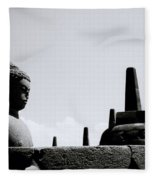 The Meditation Of The Buddha Fleece Blanket